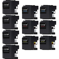 Brother LC203 Compatible Ink Cartridge 10-Pack Value Bundle