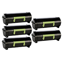 Lexmark 24B6015 Compatible Extra High Yield Toner Cartridge 5-Pack