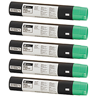 Ricoh 888260 (Type 1170D) Set of Five Compatible Toner Cartridges Value Bundle
