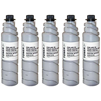 Ricoh 885208 (Type 2110D) Set of Five Compatible Toner Cartridges Value Bundle