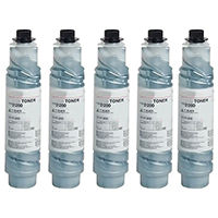Ricoh 888169 (Type 2120D) Set of Five Compatible Toner Cartridges Value Bundle