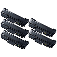 Toner Cartridge 5-Pack Compatible With Samsung MLT-D118L