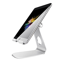 Universal Tablet Stand (Silver) - 270 Degree Angle Adjustments