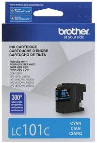 Brother LC101C OEM Cyan Ink Cartridge
