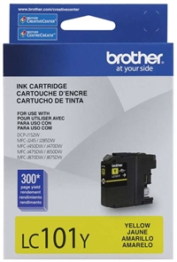 Brother LC101Y OEM Yellow Ink Cartridge
