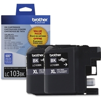 Brother LC1032PKS OEM 2-Pack Black Ink Cartridge