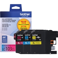 Brother LC1033PKS OEM Combo Pack (C/M/Y) Ink Cartridge
