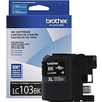 Brother LC103BK OEM High Yield Black Ink Cartridge