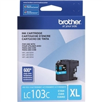 Brother LC103C OEM High Yield Cyan Ink Cartridge