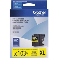 Brother LC103Y OEM High Yield Yellow Ink Cartridge
