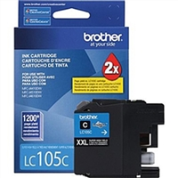 Brother LC105C OEM Super High Yield Cyan Ink Cartridge