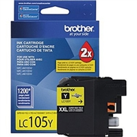 Brother LC105Y OEM Super High Yield Yellow Ink Cartridge