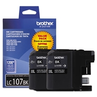 Brother LC1072PKS OEM 2-Pack Black Ink Cartridge