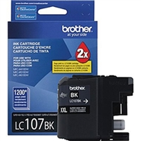 Brother LC107BK OEM Super High Yield Black Ink Cartridge