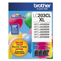 Brother LC2033PKS OEM Combo Pack (C/M/Y) Ink Cartridge