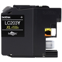 Brother LC203Y OEM High Yield Yellow Ink Cartridge