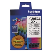 Brother LC2053PKS OEM Combo Pack (C/M/Y) Ink Cartridge