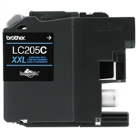 Brother LC205C OEM Super High Yield Cyan Ink Cartridge