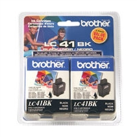 Brother LC41BK2PKS OEM 2-Pack Black Ink Cartridge