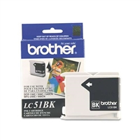 Brother LC51BK OEM Black Ink Cartridge