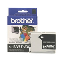 Brother LC51HYBK OEM High Yield Black Ink Cartridge