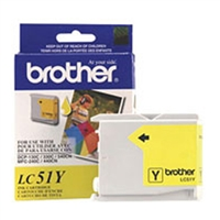 Brother LC51Y OEM Yellow Ink Cartridge