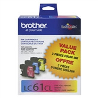 Brother LC613PKS OEM 3 Color Inkjet Cartridge Multipack