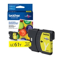 Brother OEM LC61Y Yellow Ink Cartridge