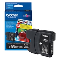 Brother LC65HYBK OEM High Yield Black Ink Cartridge