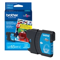 Brother LC65HYC OEM High Yield Cyan Ink Cartridge