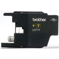 Brother LC71Y OEM Yellow Ink Cartridge