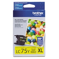 Brother LC75Y OEM Yellow Ink Cartridge