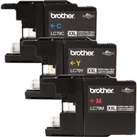 Brother LC793PKS OEM Combo Pack (C/M/Y) Ink Cartridge