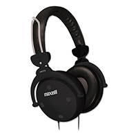 Maxell Lightweight Headphones, Black