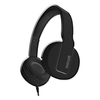 Maxell Heavy Duty Headphones w/ Microphone, Black