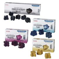 Xerox Genuine Phaser 8560 Ink Stick Value Bundle (All 15 Sticks 6K, 3C, 3M, 3Y)