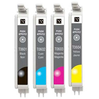 Epson T060 Remanufactured Ink Cartridge 4-Pack Value Bundle