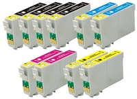 Epson T068 Remanufactured Ink Cartridge 10-Pack Value Bundle