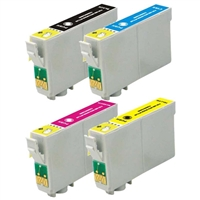 Epson T068 Remanufactured Ink Cartridge 4-Pack Value Bundle