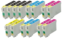 Epson T078 Remanufactured Ink Cartridge 14-Pack Value Bundle