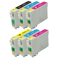 Epson T078 Remanufactured Ink Cartridge 6-Pack Value Bundle