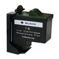 Lexmark 10N0016 (No. 16) Remanufactured Black Ink Cartridge