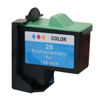 Lexmark 10N0026 (No. 26) Remanufactured Color Ink Cartridge