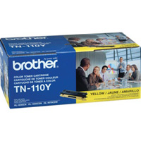 Brother Genuine TN-110Y Yellow Toner Cartridge 1,500 Page Yield