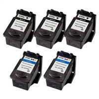 Canon Remanufactured PG-210XL / CL-211XL High Yield Value Bundle (3 Black, 2 Color)