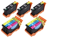 Dell P513, V315 Compatible Five Pack Ink Cartridge Value Bundle