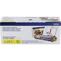 Brother TN221Y OEM Yellow Toner Cartridge