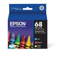 Epson T068520 High-Capacity Color Ink Cartridge Multi Pack