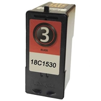 Lexmark 18C1530 (No. 3) Remanufactured Black Ink Cartridge