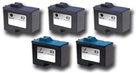 Lexmark No. 82 & 83 Remanufactured Ink Cartridge Five Pack Value Bundle